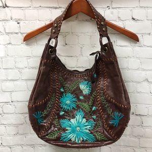 Isabella Fiore Flower Patch Hobo Handbag Purse
